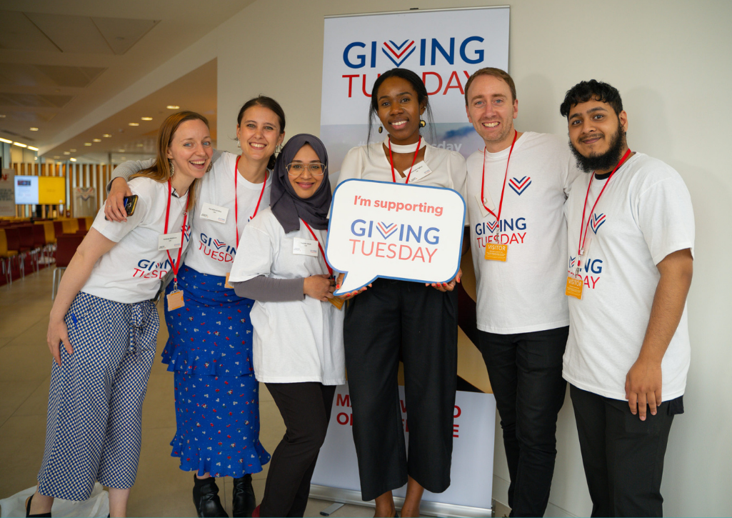 GivingTuesday United Kingdom team posed together